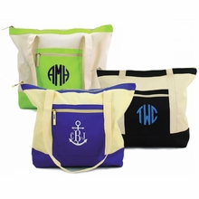 Monogrammed Color Block Tote