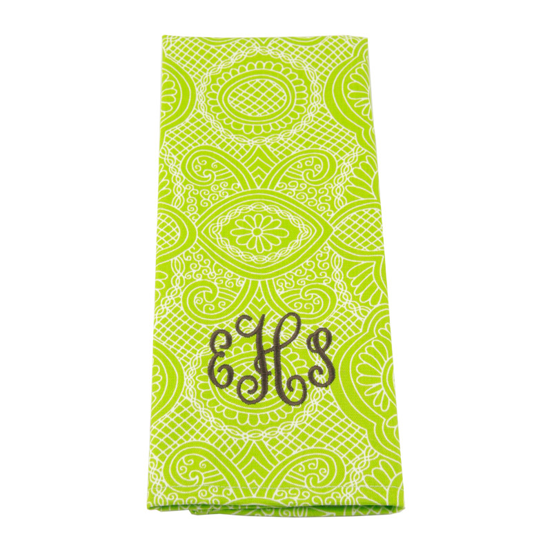 District17Monogrammed Kitchen TowelsTable Linens,Personalized
