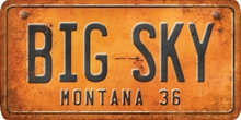 Montana Custom License Plate Art