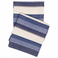 Montego Stripe Indigo Chenille Throw Blanket