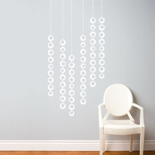 Moon Pearls in White Wall Decal