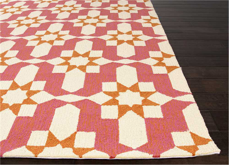 District17: Moravian Indoor/Outdoor Rug in Pink: Patterned Rugs ...