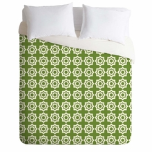 Moroccan Mirage Green Lightweight Duvet Cover