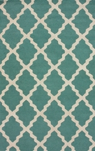Moroccan Trellis Rug in Spa Blue