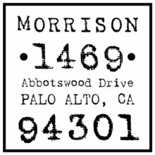 Morrison Personalized Self-Inking Stamp