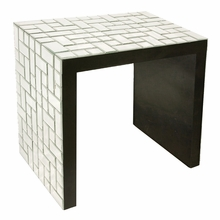 Mosaic Mirrored Accent Table