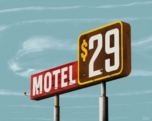 Motel 29 Canvas Wall Art