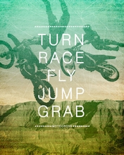 Motocross Action Canvas Wall Art