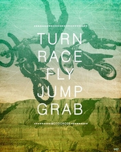 Motocross Action Poster Wall Decal