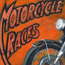 Motorcycle Races Canvas Wall Art