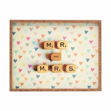 Mr and Mrs Rectangle Tray