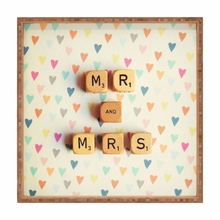 Mr and Mrs Square Tray