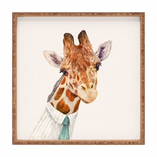 Mr Giraffe Square Tray