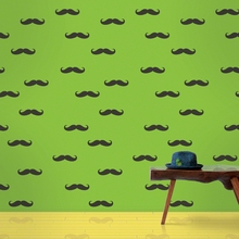 Mustache Removable Wallpaper