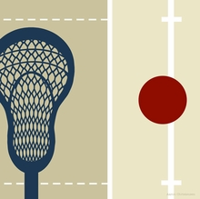 MVP Lacrosse Canvas Wall Art