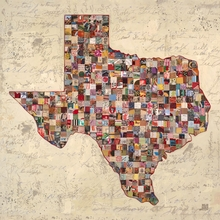My Texas Map Canvas Wall Art
