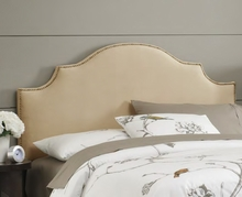 Nailhead Notched Upholstered Headboard