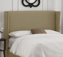 Nailhead Wingback Upholstered Headboard