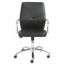 Napoleon Low Back Office Chair in Black and Chrome