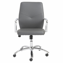 Napoleon Low Back Office Chair in Gray and Chrome