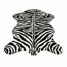 Narrow Striped Zebra Pelt Rug