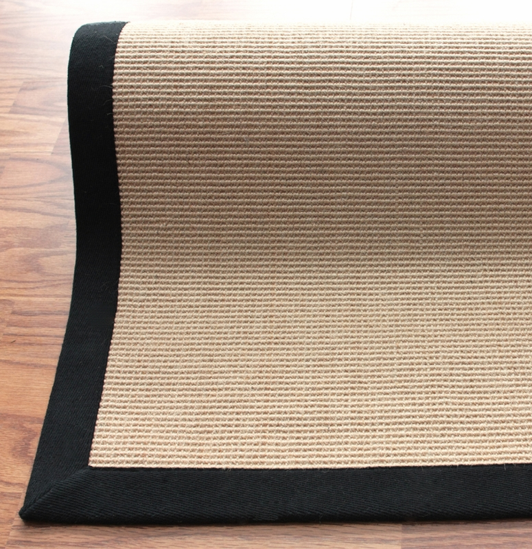 Natura Jute Rug With Black Border