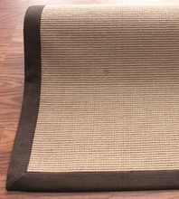 Natura Jute Rug with Brown Border