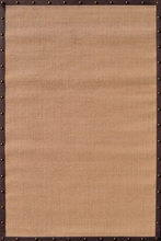 Natural Brown Stud Border Rug