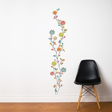 Nature Dance Flowers Transfer Wall Decals