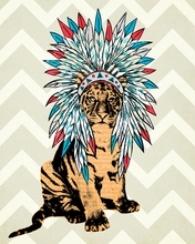 Navajo Headdress Canvas Wall Art