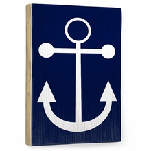 Navy Anchor Vintage Wood Sign