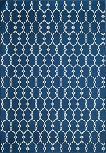 Navy Baja Lattice Rug