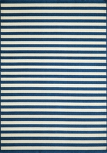Navy Baja Striped Rug