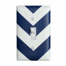 Navy Chevron Light Switch Plate Cover