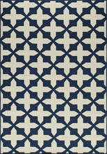 Navy Cross Baja Rug