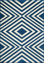 Navy Diamond Baja Rug