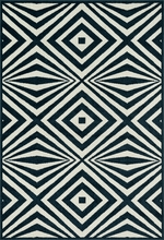 Navy Diamonds Catalina Rug