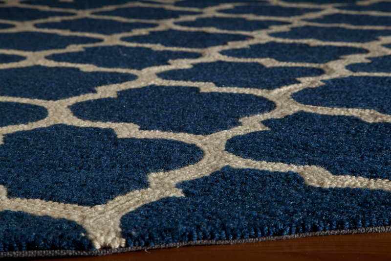 District17 Navy Geo Lattice Rug Patterned Rugs