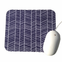 Navy Herringbone Mouse Pad