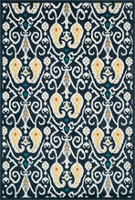 Navy Ikat Catalina Rug