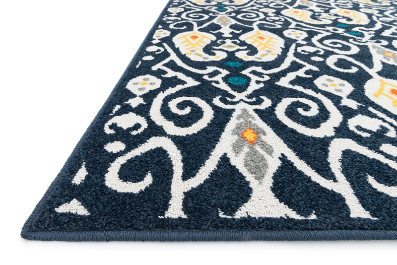 district17: navy ikat catalina rug: patterned rugs,outdoor rugs