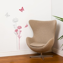 Neuchatel Flowers and Butterflies Transfer Wall Decals