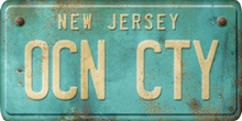 New Jersey Custom License Plate Art