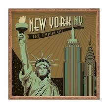 New York Square Tray