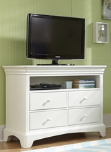 Newlyn Four Drawer Media Chest in Bright White