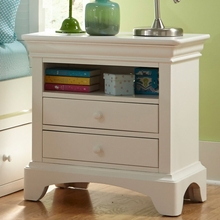 Newlyn Two Drawer Nightstand in Bright White