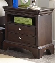 Newlyn Two Drawer Nightstand in Merlot