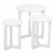 Nicolo Nesting Tables in Matte White Lacquer