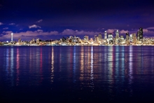Nighttime Seattle Skyline Wall Art