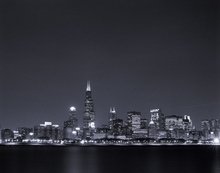 Nighttime Skyline Wall Art